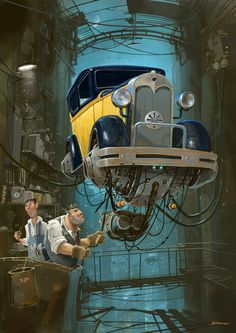 the beautiful stylings of Alejandro Burdisio...love the mechanics of the cars and how they feel alive...