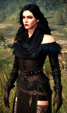 Steam Community: The Witcher Wild Hunt. Triss Merigold Witcher 3, Witcher 3 Yennefer, Yennefer Cosplay, Yennefer Of Vengerberg, Witcher Art, The Witcher 3, Steampunk Dress, Steampunk Fashion, Jaina Proudmoore