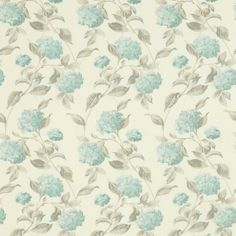 Laura Ashley hydrangea duck egg blue curtain fabric ♥