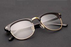 $3.99 Retro Vintage Clubmaster Half-frame Glasses Men Women Fashion Classic in Clothing, Shoes & Accessories,Unisex Clothing, Shoes & Accs,Unisex Accessories | eBay