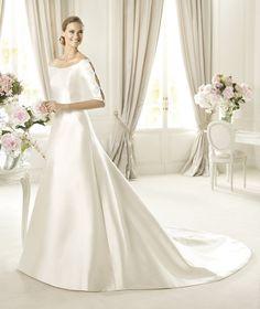 Pronovias te presenta el vestido de novia Ubaldi, Costura 2013. | Pronovias