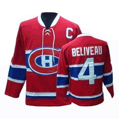 b23de8141 Buy 100% official CCM Jean Beliveau Men s Authentic Red Jersey Throwback NHL  Montreal Canadiens  . Roy WhiteMontreal ...