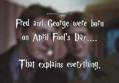 Los gemelos compartieron la fecha de cumplea�os m�s adecuada que se pueda imaginar. | 28 razones por las que Fred y George son los mejores personajes de la serie de Harry Potter