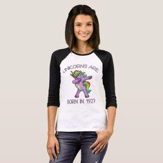 Unicorns are Born in 1927 Cute Dabbing Dance Pose T-Shirt - unicorn birthday diy gift idea present unicorns customize