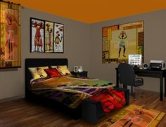 African inspired bedroom theme