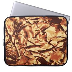 Brown Camo Camouflage Gifts for Hunters Laptop Computer Sleeve SOLD on Zazzle