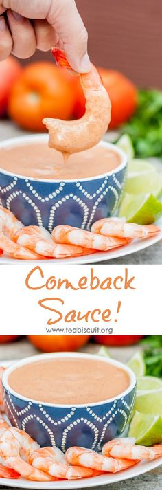 chili sauce, not ketchup. Comeback Sauce, a Mississippi original in the same family as Fry Sauce, Thousand Island and Cocktail Sauce, it's SO good you'll be back for more! Appetizer Dips, Appetizer Recipes, Sauce Recipes, Cooking Recipes, Healthy Recipes, Free Recipes, Healthy Food, Sauce Cocktail, Comeback Sauce