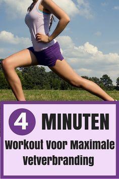 Snel vet verbranden met deze 4 minuten Workout