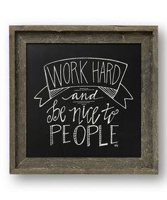 Another great find on #zulily! 'Work Hard' Barn Wall Décor by Collins #zulilyfinds