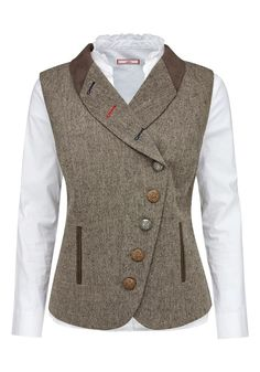 Joe browns tweed-weste in braun Style Désinvolte Chic, Parisian Chic Style, My Style, Classy Work Outfits, Fall Outfits, Style Chic Parisien, Dandy Look, Tomboy Fashion, Fashion Outfits