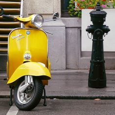"This Flickr photo is called ""a yellow vespa on a very grey day ..."" and that's exactly what I want on this very grey Melbourne day."