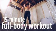 15-minute full-body workout. Do anywhere, minimal equipment. #fullbody #workout #fullbodyworkout #fitness #athome #minimalequipment #dumbbells #dumbbellworkout