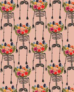 Amoebas Amoebas Everywhere! — bouffantsandbrokenhearts-Skeleton and Flowers.