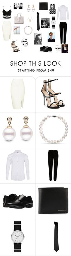 """Elegance contest"" by withered-faces on Polyvore featuring Giuseppe Zanotti, Labinjoh London, River Island, Stacy Adams, Burberry, Skagen y Versace"