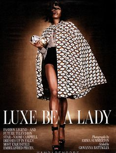 Luxe be a Lady - W magazine July 2012  Mary Katrantzou  silk cape and blouse.