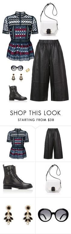 """glam rock"" by candynena228 ❤ liked on Polyvore featuring self-portrait, Robert Rodriguez, Gianvito Rossi, Joanna Maxham, Vera Bradley, Tod's and Cartier"