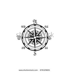 Sailor compass with wind rose arrows icon. Vector isolated symbol of marine or nautical ship navigation retro compass with sailing direction names of East, West, North and South for ship seafaring