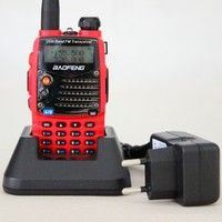 BaoFeng UV-5RA Red Color 5Watts 128CH Dual Band 136-174MHz&400-520MHz Long Talke Range Walkie Talkie Waterproof Two Way Radio