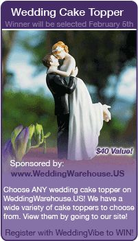 wedding contests - Win a cake topper in this wedding giveaway!