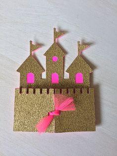 Princess Castle invitation Custom Princess invitation by FalcoClan