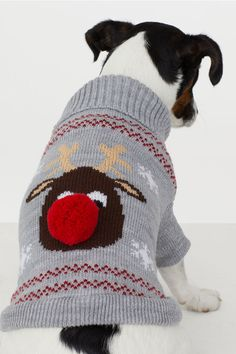 Accessoryo Womens Putty Knitted Reindeer Design Bobble Hat