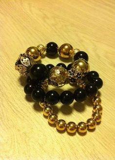 Kupuj mé předměty na #vinted http://www.vinted.cz/doplnky/naramky/10957827-cerno-zlate-naramky
