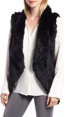 f188f151a0 La Fiorentina Ombre Genuine Rabbit Fur Vest