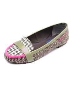 This Khaki Houndstooth Loafer by LeBunny Bleu is perfect! #zulilyfinds