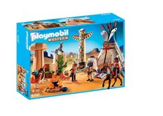 PLAYMOBIL Native American Camp with Totem Pole - http://www.rekomande.com/playmobil-native-american-camp-with-totem-pole/