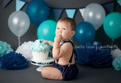 Boy cake smash outfit baby bow tie and by ShopLilSquirts on Etsy