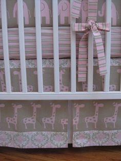 My baby girls crib bedding inspiration!