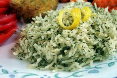Lemon Dilled Rice use fresh dill from the summer garden instead of dried!