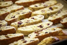 lemon, almond, anise and cranberry biscotti