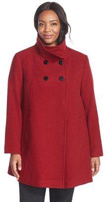 Shop Now - >  https://api.shopstyle.com/action/apiVisitRetailer?id=489198980&pid=uid6996-25233114-59 Plus Size Women's Larry Levine Wool Blend A-Line Babydoll Coat  ...