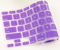 """myLife Lilac Purple {Hand Washable Design} Silicone Gel Keyboard Protector Skin Cover for 13"""" Aluminum MacBook, MacBook Air, Macbook Pro, and MacBook Pro with Retina display; 15"""" MacBook Pro and MacBook Pro with Retina display; 17"""" Apple MacBook Pro (Dust, Dirt, Hair and External Moisture Protection with a Quiet Type Noise Reducing Fit) myLife Brand Products http://www.amazon.com/dp/B00OU0X5DU/ref=cm_sw_r_pi_dp_2k8vub038GP35"""