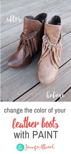 How to change the color of your leather boots and shoes with paint | Leather Paint Tips by MagicBrushinc.com