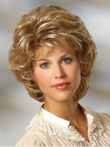 Blonde Curly Synthetic Medium Wigs