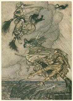 Arthur Rackham-witches