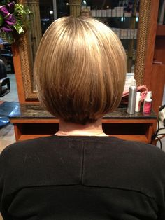 Short hair bob. Soft layers easy to style