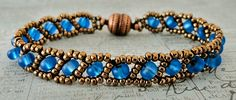 Linda's Crafty Inspirations: Bracelets of the Day - Russian Snake & Lakota Chain--Free pattern link