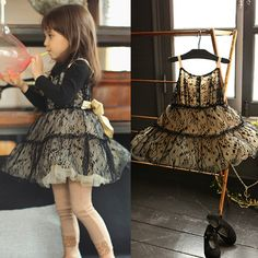 Special offer/South Korea imported children's clothing in the autumn of 2014 / amber princess wind noble bitter fleabane bitter fleabane skirt with shoulder-straps bud silk yarn children on EdithJewelry.com