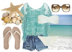 """Soak up the Sun"" by qtpiekelso on Polyvore"