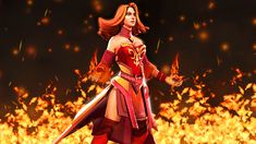 Lina by Darkness-Ringo on DeviantArt Dota 2, Princess Zelda, Wonder Woman, Deviantart, Superhero, Dark, Fictional Characters, Women, Women's
