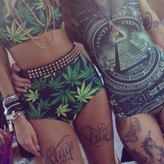 Beautiful tattoos and clothes