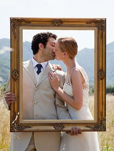 obviously not this - but frame(s) for a photo booth of some sort could be fun? Wedding Couple Photos, Wedding Poses, Wedding Engagement, Wedding Ideas, Engagement Shoots, Wedding Pictures, Wedding Stuff, Photography Pics, Wedding Photography