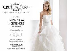 Bridal Trunk Show 04 Settembre - CRISTINA DESIGN - VIA XXIV MAGGIO 115/119, PONTECORVO - PALAZZO COMUNALE PONTECORVO