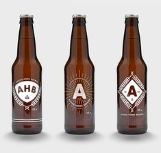 Aussie Homebrewer bottles designed by Ben Suarez.