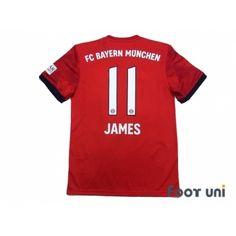 5d01563fc Bayern Munich 2018-2019 Home Shirt  11 James Rodriguez Bundesliga  Patch Badge