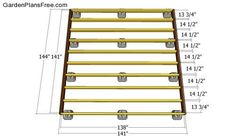 Deck Block Plans Deck Plans Free Free Garden Plans How To Build Garden Projects Floating Deck Plans, Building A Floating Deck, Deck Building Plans, Building A Shed, Building A Deck Frame, Deck Cost, Deck Framing, Laying Decking, Deck Builders