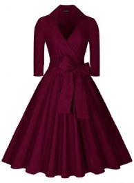 NEW! Dior 1950s style Purple Wrap Dress